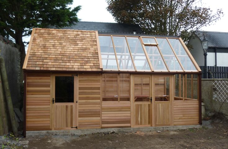 Shed Greenhouse Combination In The Garden Pinterest