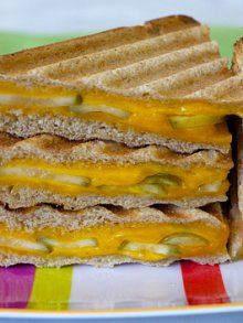 Grilled Cheese and Pickle Panini | Recipe