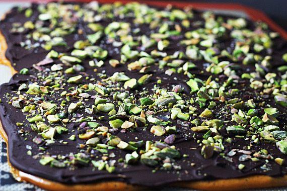 Dark Chocolate Pistachio Brittle | Recipe