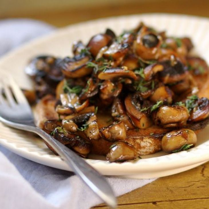 Mushrooms on Toast V Recipe   Favorite Recipes   Pinterest