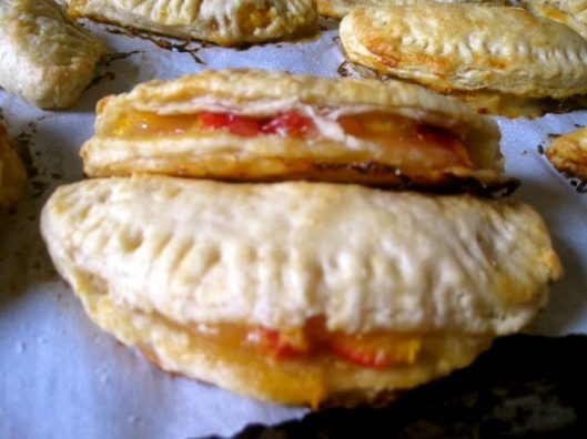 James and The Giant Peach Bourbon Peach Hand-Pies (from Yummybooks)