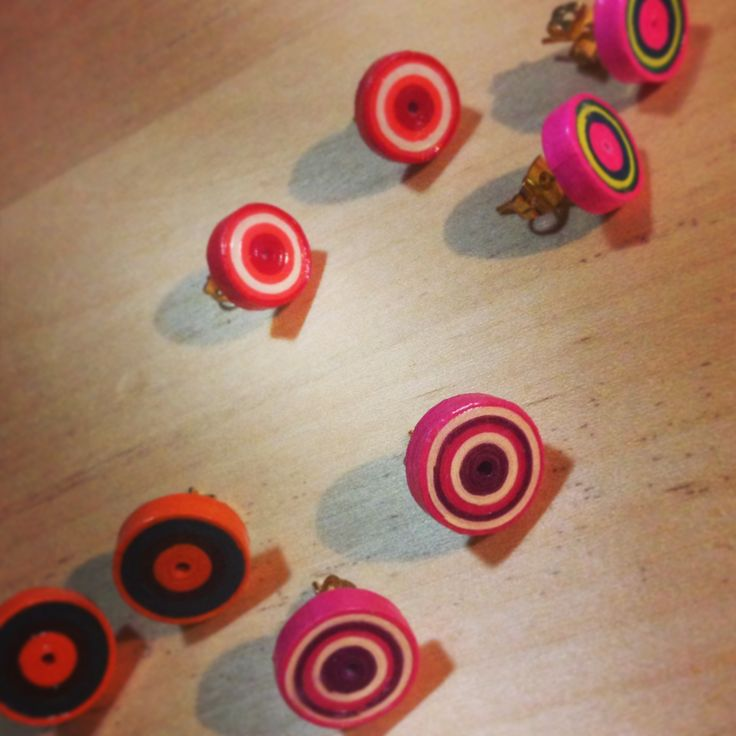 Quilling earrings | diy earrings | Pinterest