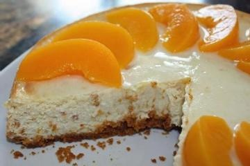 Peach Cheesecake with Gingersnap Crust | Recipes to try | Pinterest