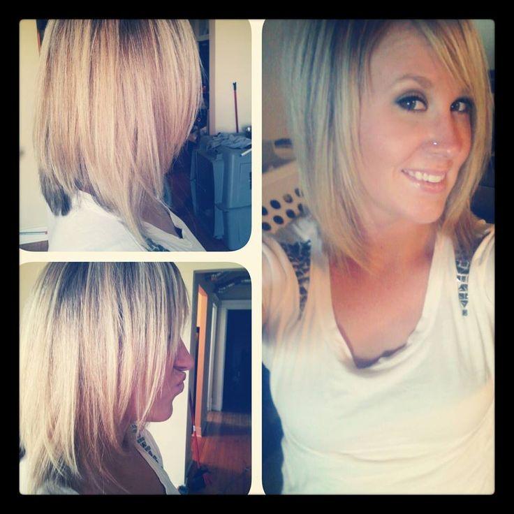 long angled bob my new haircut lovee | hairstyles | Pinterest