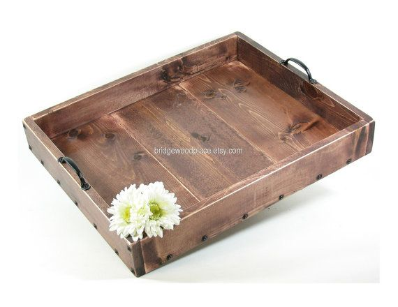 Ottoman Tray Large Wood Coffee Table Tray Dry Use Serving