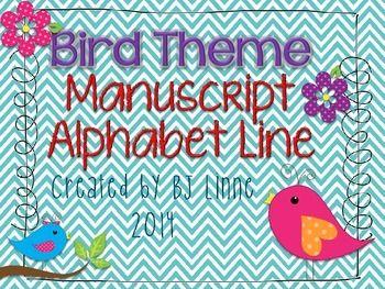 d alphabet themes  Cute Bird Theme Alphabet Line!