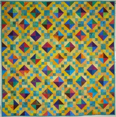 Quilt Patterns Using 6 Inch Squares : Big Block Big Quilt - Jewels using 5 Inch Squares