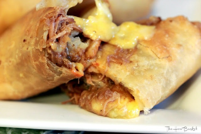 The Hen Basket: Shredded Beef and Cheese Chimichangas