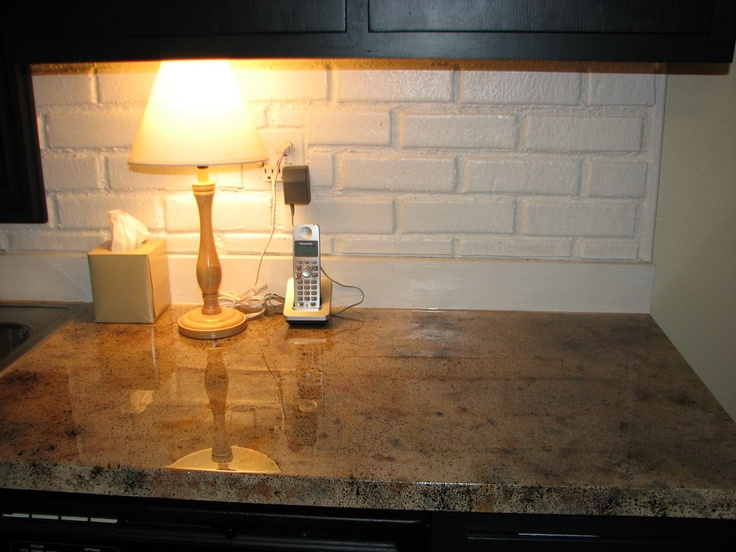 Countertop Lip : painted countertops - paint the back lip to match the backsplash ...