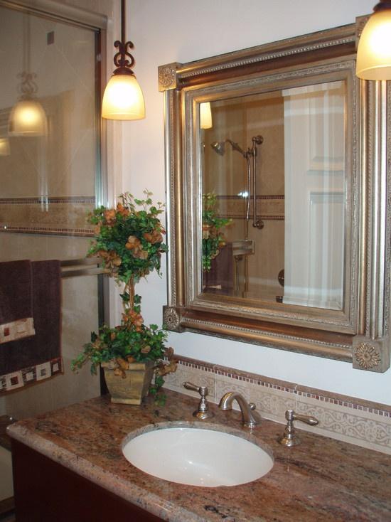 Mediterranean Bathroom Mirror Design Pictures Remodel Decor And