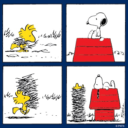 Thursday morning with Snoopy and Woodstock.
