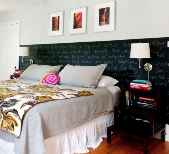 Bedroom Makeover Ideas Chalkboard Paint Headboard Inexpensive Home