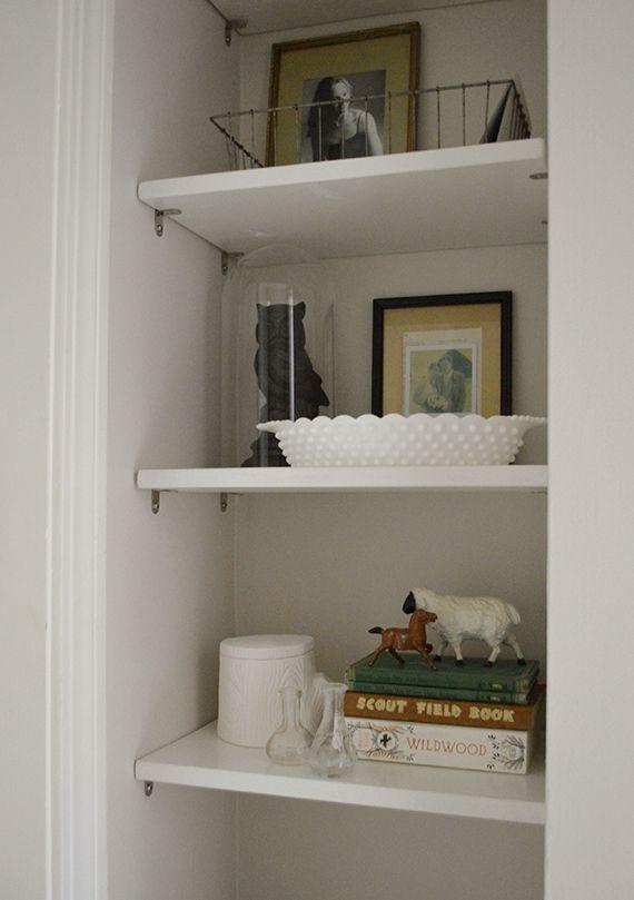 Hall nook diy shelves diy pinterest for Diy shelves pinterest