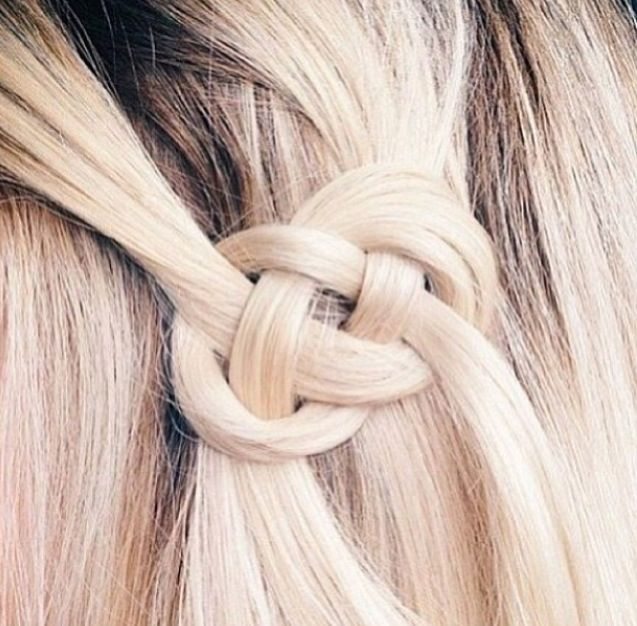 Hairstyles For Short Hair Knots : Infinity knot hair long beautiful