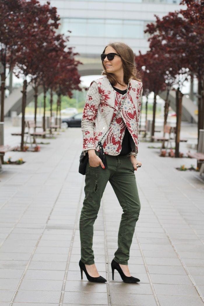 Zara jacket and baggy pants ...