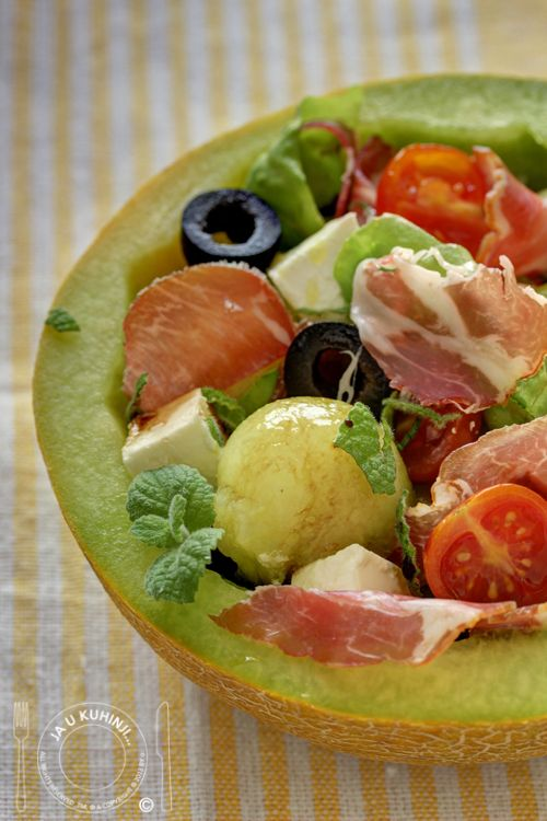 Prosciutto and Melon Salad | good for me and you | Pinterest