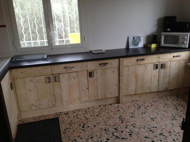 Muebles de cocina hechos de palets  Muebles hechos con ...