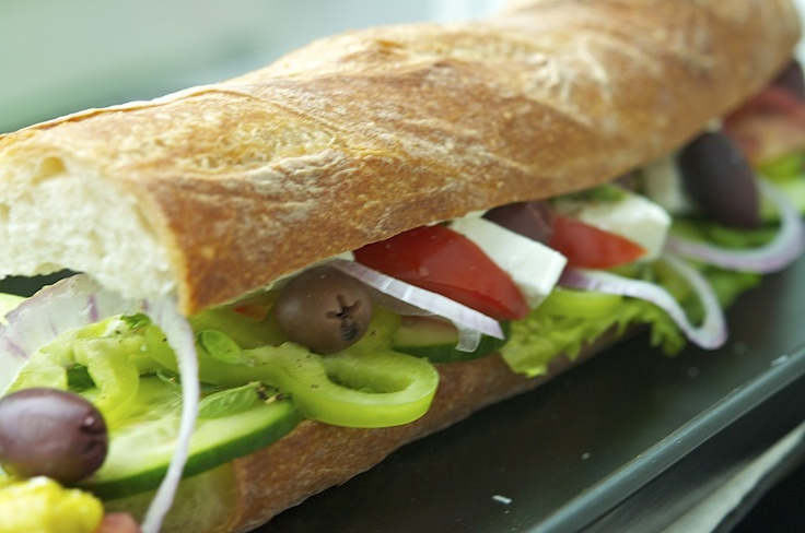 Greek Salad Sandwich | New Recipes to Try - Savory | Pinterest
