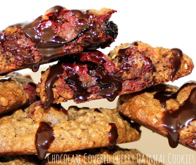 Chocolate Cherry Oatmeal Cookies | The Book of Noms | Pinterest