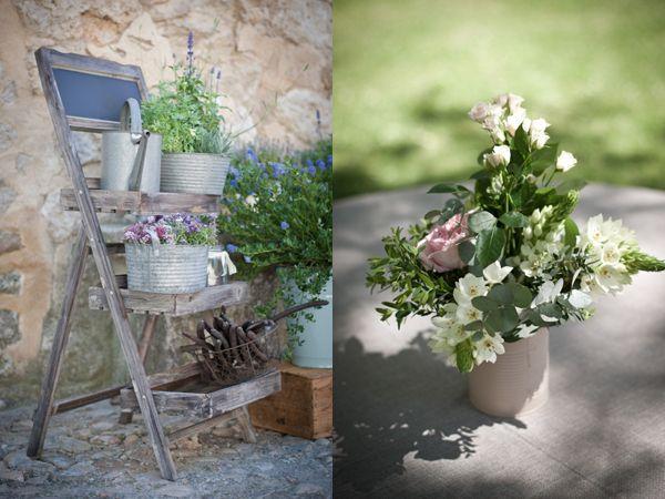 Deco extérieur  Mariage - Idées fleurs  Pinterest
