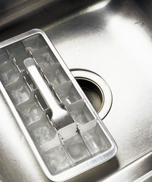Deodorize a garbage disposal. Make vinegar ice cubes and feed them down the disposal. After grinding, run cold water through the drain. @Kay Martin Strange