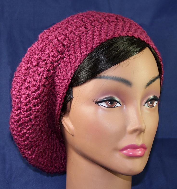 slouchy beret hat pattern CROCHET THINGS I LIKE Pinterest