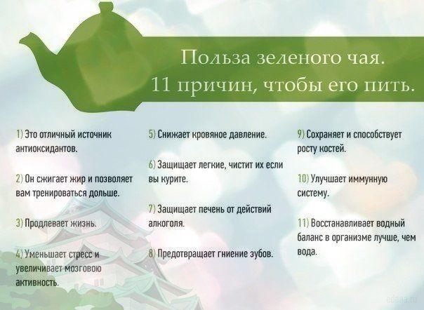 Польза от зеленого чая