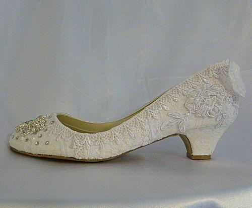 Twinkle Toes Low Heels 2 5 8 Or 1 5 8 Inch Heels Vintage Lace A