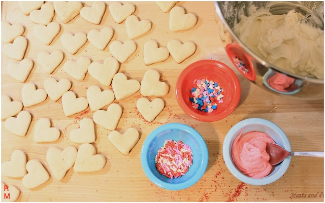 lil heart sugar cookies