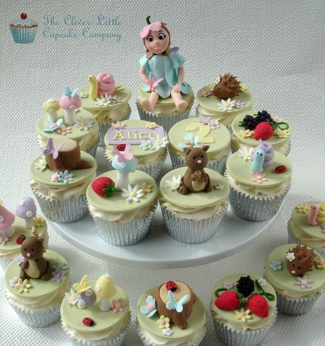 Fairy woodland cupcakes cupcake designs pinterest for How to make fairy cupcakes