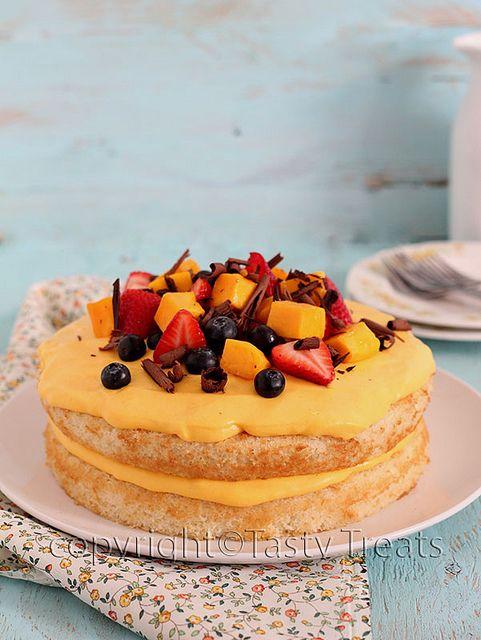 Mango Cream Cake | Desserts + Sweets + Breakfast | Pinterest
