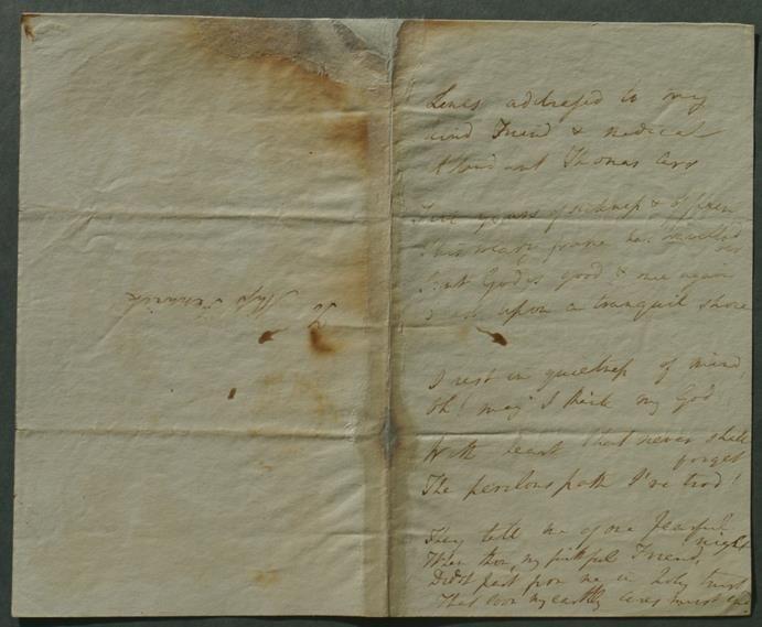 Dorothy Wordsworth Poem Published for First Time