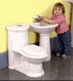 kids size bathroom sink and toilet new house new space