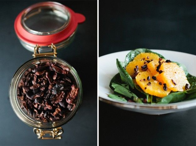 Orange Salad with Cocoa Nibs | food | Pinterest