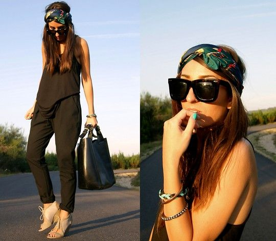 Zara Top, Flea Market Shoes, Vintage Silk Scarf, Zara Pants, Zara Leather Bag