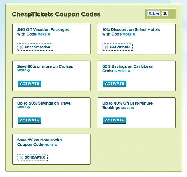 4. CheapTickets promo codes can be entered during the payment step of the checkout process. Locate the line of text reading