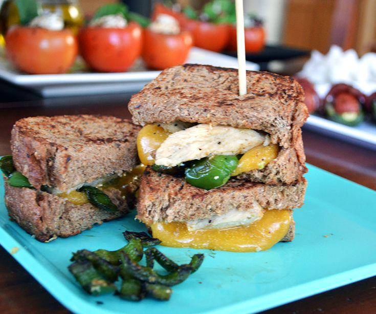Mini chicken jalapeno grilled cheese sandwiches - Girls Gone Sporty