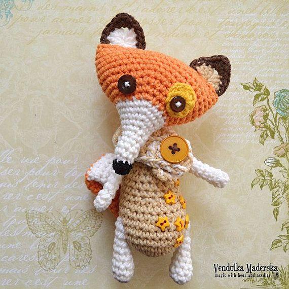 Crochet fox pattern VendulkaM #crochetpattern #amigurumi # ...