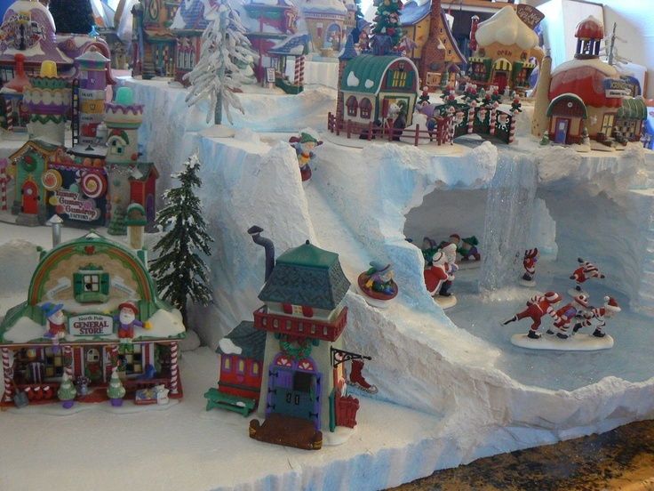 custom foam Dept 56 christmas village displays on etsy