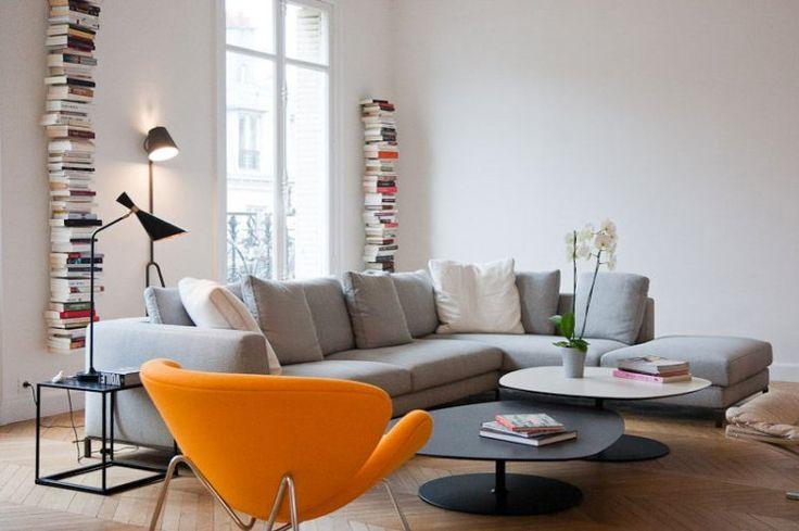Salon contemporain Décoration Pinterest