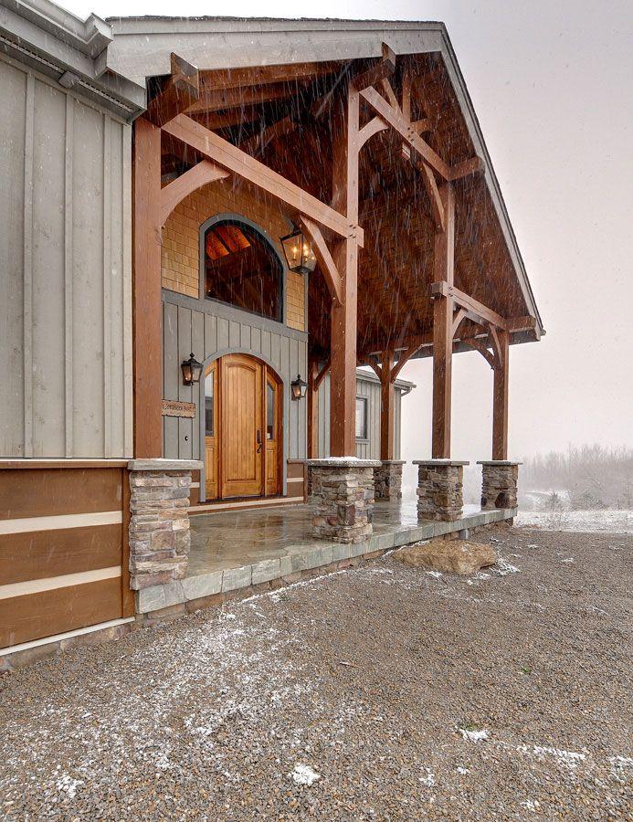 Timber Frame Exterior Design My House Pinterest