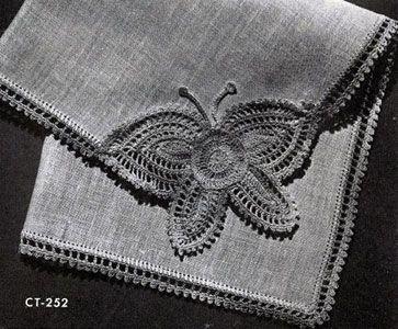 Free Crochet Pattern ~Butterfly Motif - Niftynnifer's