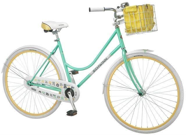 "womens girls ladies schwinn green white beach road cruiser 26"" bike"
