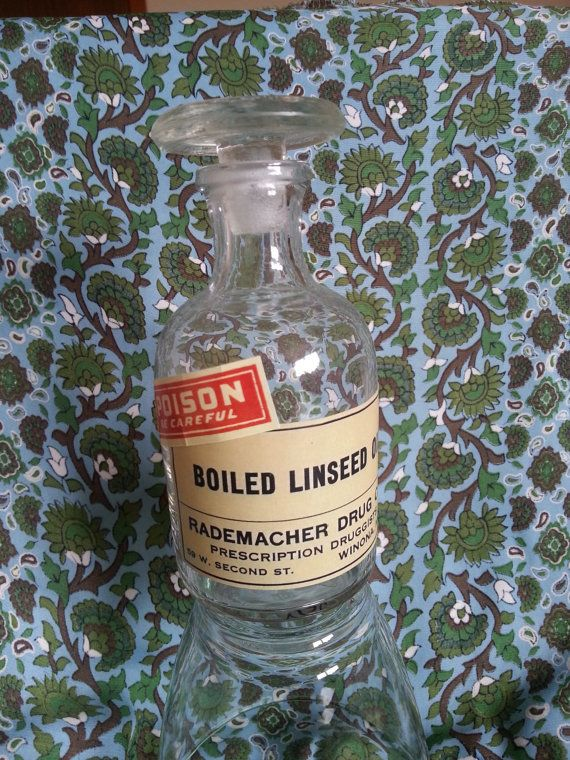 Small glass 'poison' bottle by GrannieMcVintage on Etsy, £5.00