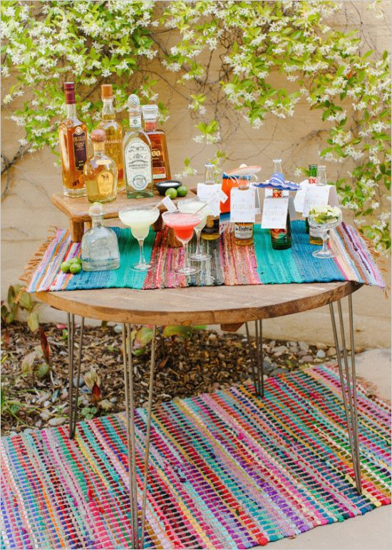 Margarita Bar DIY. #fiesta #whattobuy #weddingchicks Design: Brooke Keegan ---> http://www.weddingchicks.com/2014/04/30/make-your-own-taco-bar/