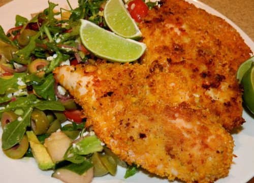 Baked Chicken with corn flake crust | Recipes | Pinterest