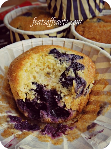 Cornmeal, Blueberry Muffins | Blueberry- Berries Anything! | Pinterest