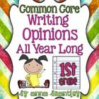 This supplemental resource was designed to reinforce the Common Core opinion writing standard for first grade {W.1.1}. It includes graphic organize...