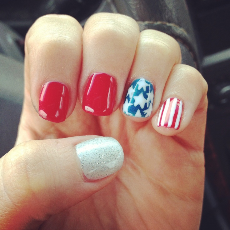 My American shellac design | Nails: American | Pinterest