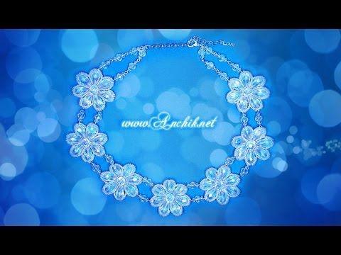 Tutorial: Wedding necklace / Свадебное колье из ...